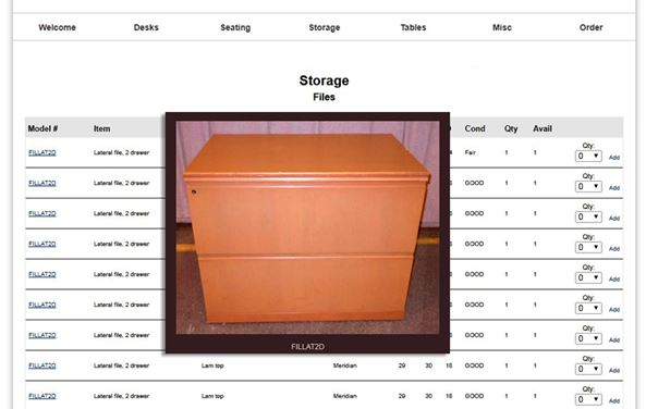 Web Based Surplus Furniture Management