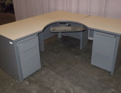 Haworth Corner Desk Unit
