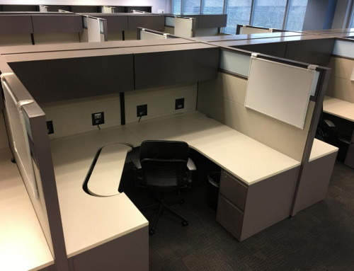 Pre Owned Steelcase Answer 6×8 Powered Workstations