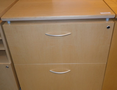 AS IS Teknion Locking 2 Drawer Lateral File