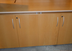AS IS Teknion Descor Locking Storage Credenza