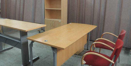 AS IS Teknion Descor Executive L Desk with Bookcase