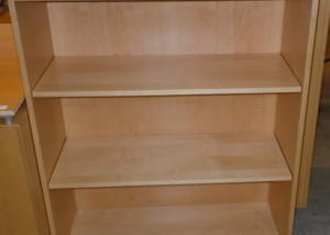 AS IS Teknion Bookcase With 2 Adjustable Shelves