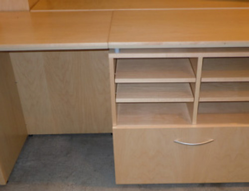 AS IS Teknion Credenza With Locking Lateral File Storage